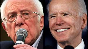 Bernie Sanders and Joe Biden (AP/PA)