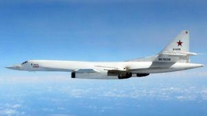 A Russian long-Range Blackjack bomber (MInistry of Defence/PA)