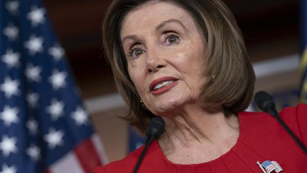 Speaker of the House Nancy Pelosi condemned Donald Trump for 'throwing out insults' (J Scott Applewhite/AP)