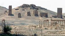 The ancient Roman city of Palmyra, north-east of Damascus (AP)
