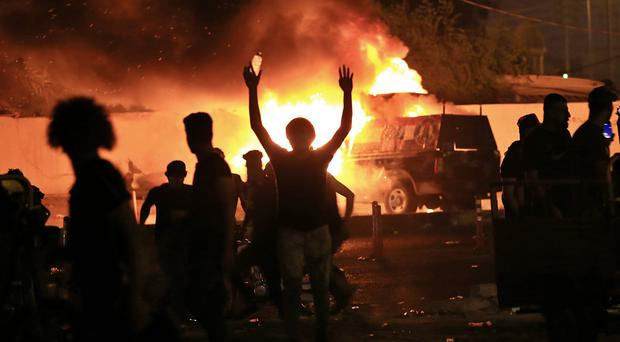 The anti-government protests erupted on Friday (Nabil al-Jurani/AP)