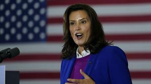 Michigan Governor Gretchen Whitmer said 'people of good will on both sides of the aisle need to step up and call this out and bring the heat down' (Carolyn Kaster/AP)