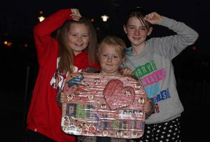 One Direction fans at the Odyssey Arena for the second show of the band's four-night run at the venue.  Left to right.  Toni Thompson (9), Tanya Sherrit (9) and Jodie-Lee Jamison (12) from Lisburn