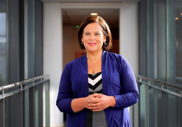 Support: Mary Lou McDonald's Sinn Fein party are the most popular in the Republic