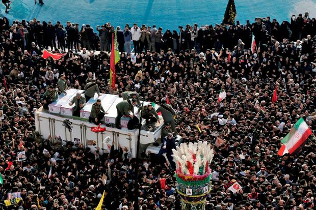 protests in Iran after the US killed Major General Qassem Soleimani