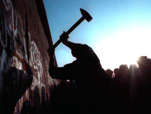 Historic: the taking down of the Berlin Wall in 1989