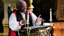 Great inspiration: Bishop Michael Curry speaking at the wedding of Prince Harry and Meghan Markle
