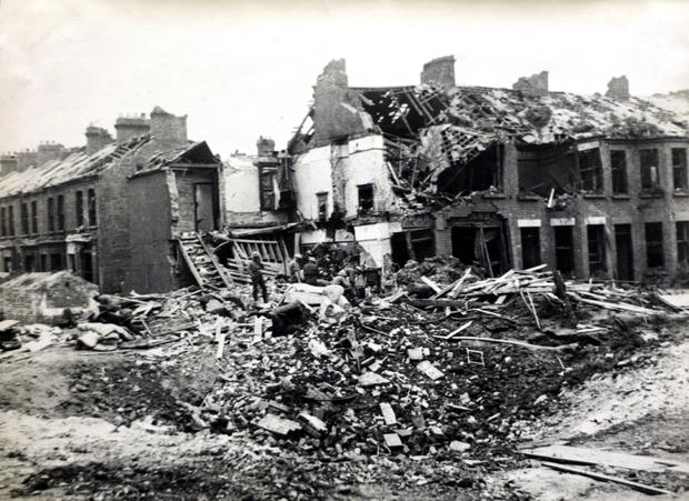 The Luftwaffe's bombings of Belfast in 1941 caused widespread damage