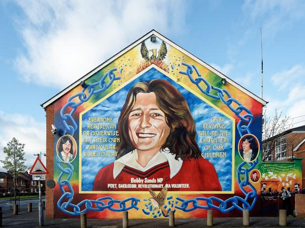A mural remembering Bobby Sands