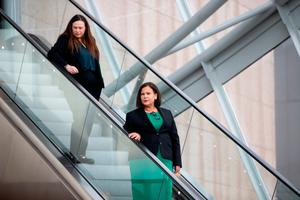 Mary Lou McDonald after the vote on Saturday in Dublin