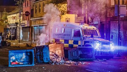 Flashpoint: Rioting erupts in the Sandy Row area of south Belfast