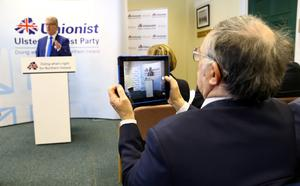 Nesbitt at launch of the party's Our Vision For You... The Voter document at Stormont