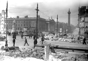 Dublin's Sackville Street (later O'Connell Street) in the aftermath of the Easter Rising