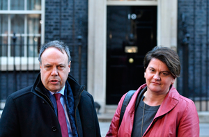 The DUP's Nigel Dodds and Arlene Foster