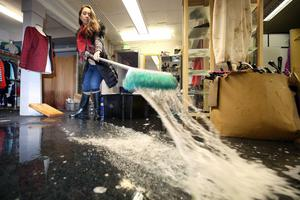 Business owners like Anita Ross from the Boudoir designer boutique at the linen Green complex in Dungannon were hard hit in recent floods.
