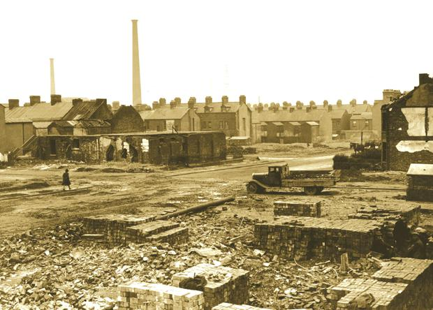May 4/5, 1941, looking towards York Street following the Blitz clean-up operation
