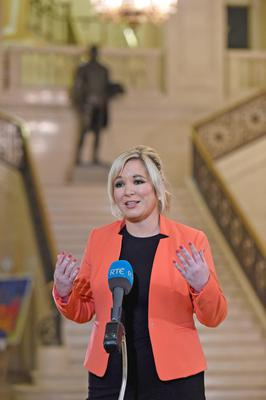 Under-fire: Sinn Fein's Northern leader Michelle O'Neill