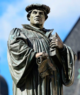 A statue of Martin Luther in Eisleben, the church reformer's birthplace. He remains a towering figure in history whose teachings helped shape modern-day Northern Ireland