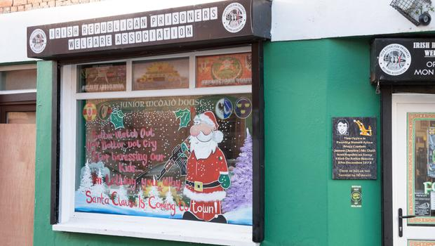 The display on the window at Junior McDaid House in Londonderry