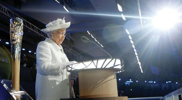 The Queen officially opens the event in Glasgow