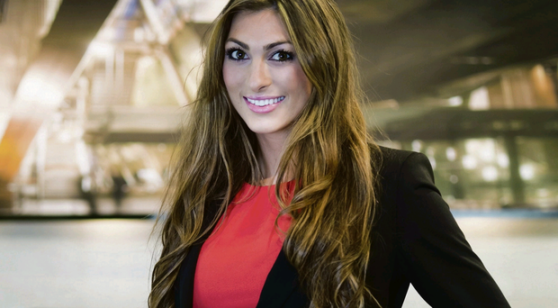 On her side: Luisa Zissman spoke out in defence of NI teen in the Magaluf video
