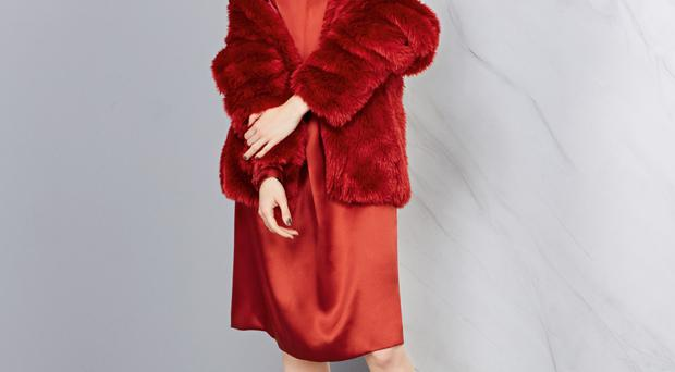 Red alert: not even this outfit from Marks & Spencer's Autograph range could prevent disappointing sales figures over the Christmas period