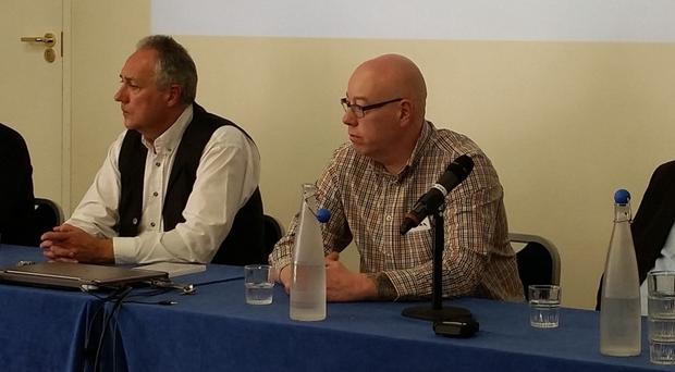 From left: Lee Lavis, Seanna Walsh, Kieran Devlin and Pat Magee at the conference in London