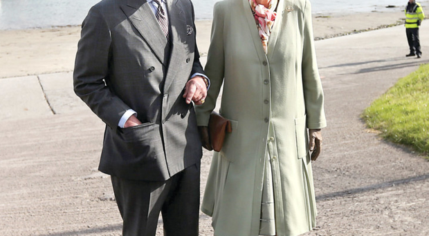 Charles and Camilla in Mullaghmore this week