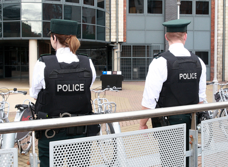 PSNI officers on duty