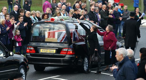 The body of a soldier killed in Afghanistan in 2011 comes home
