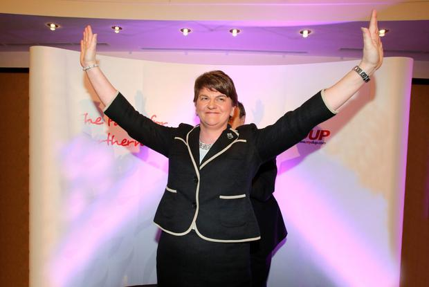 New leader of the DUP Arlene Foster after being chosen as party leader of the DUP