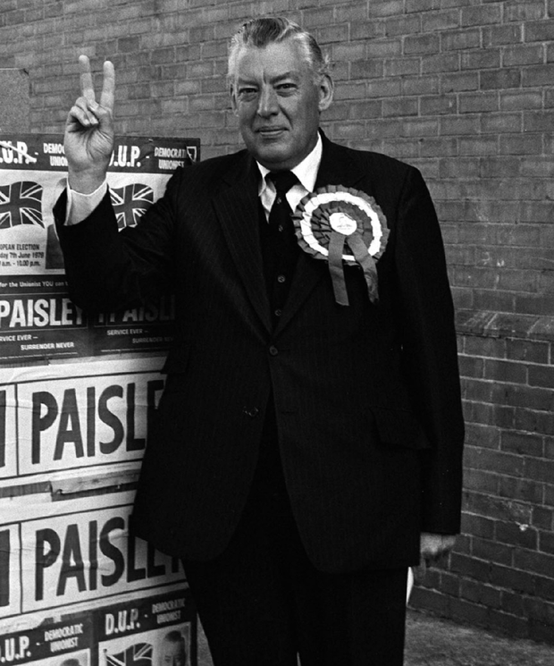 Ian Paisley after voting in the European election in East Belfast