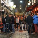 Crowded pubs and restaurants at Belfast's cathedral quarter