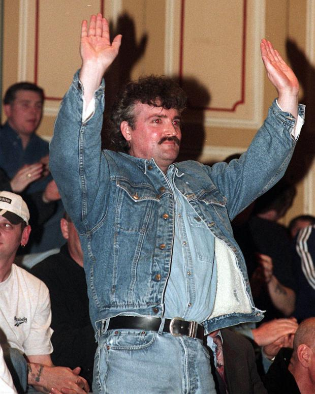 Stone's rousing reception at the Ulster Hall in 1998
