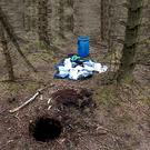 Terrorist hide uncovered at Capanagh Forest outside Larne