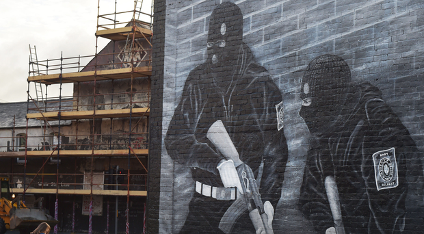 A paramilitary mural on the Newtownards Road in Belfast