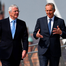 Former Prime Ministers Tony Blair And Sir John Major united to back the Remain campaign on a recent visit to Derry city