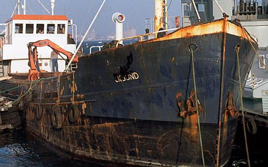 Libyan arms ship The Eksund was found carrying weapons for the IRA in 1987, but Martin McGuinness is probably unaware that some of the Semtex from that period remains in storage to this day