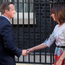 David Cameron leaves 10 Downing Street yesterday morning with his wife Samantha to announce his resignation following the referendum result