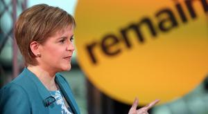 Nicola Sturgeon pointed out Scotland voted to stay in a UK that's very different from today's. Photo: BuzzFeed News/Facebook via Getty Images