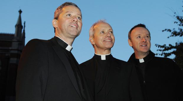 Fr Martin O'Hagan, Fr Eugene O'Hagan and Fr David Delargy of The Priests