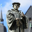 Seminar: a monument of Martin Luther in Eisleben, the town of his birth and right