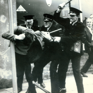 The civil rights march on October 5, 1968 in Derry