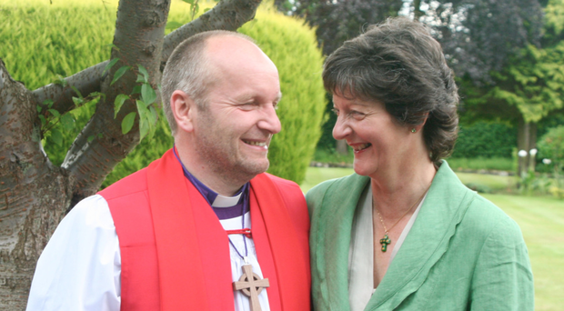 Shining example: the Rt Rev Alan Abernethy, with his wife Liz, praised the NHS for its treatment of his heart problem