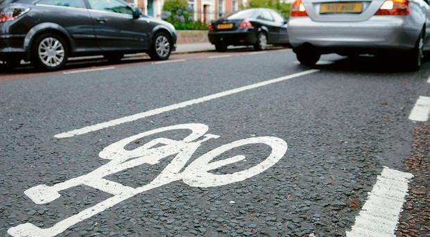According to the survey,65% of people would cycle if there were more dedicated routes
