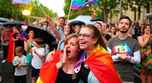 New thinking: Australia has voted in favour of same-sex marriage, but it remains a huge issue for Churches in Northern Ireland