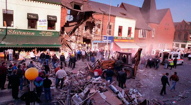 The aftermath of the Shankill bomb in 1993.