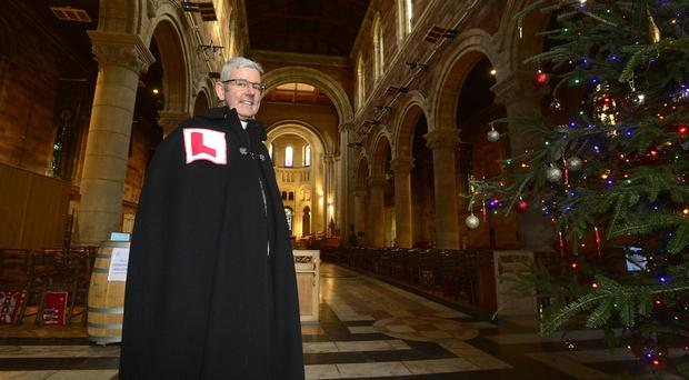 Good spirits: Dean Elect Stephen Forde at St Anne's Cathedral