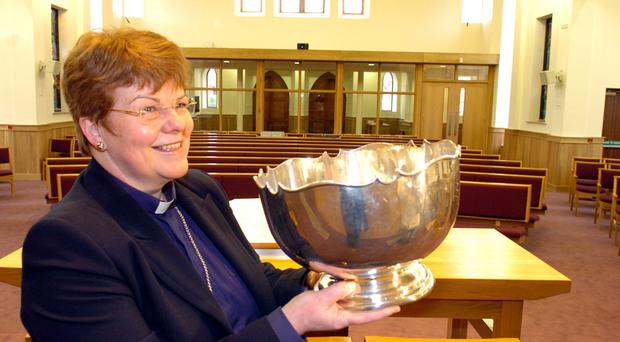 Great work: the retiring Rev Dr Liz Hughes