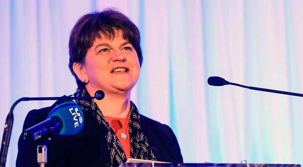 DUP leader Arlene Foster addressing delegates at the inaugural Killarney Economic Conference in Co Kerry